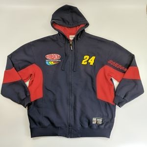 Jeff Gordon #24 NASCAR Full Zip Hoodie Size XL